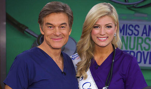 Kelley Johnson stops by the set of Dr. Oz.